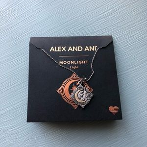 Alex and ani adjustable moonlight necklace